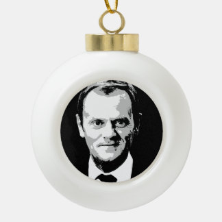 Donald Tusk Ceramic Ball Christmas Ornament