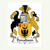 Donaldson Family Crest Postcard