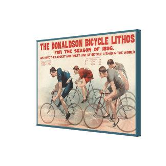 Donaldson monta en bicicleta la publicidad del vin lona envuelta para galerías