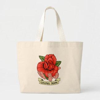 Donante de esperanza bolsas lienzo