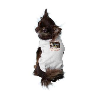 Donante de gracias que nos encontramos camiseta playera sin mangas para perro