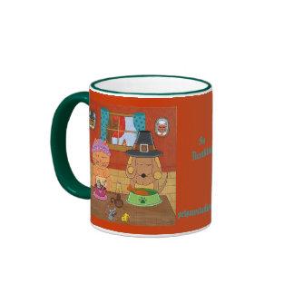 Donante de gracias taza de café