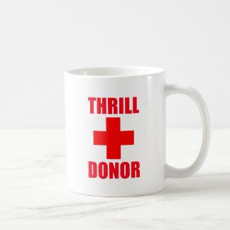 Donante de la emoción taza de café