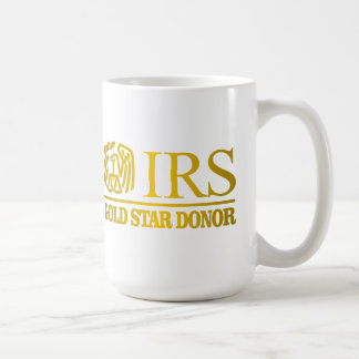 Donante de la estrella del oro del IRS Taza De Café