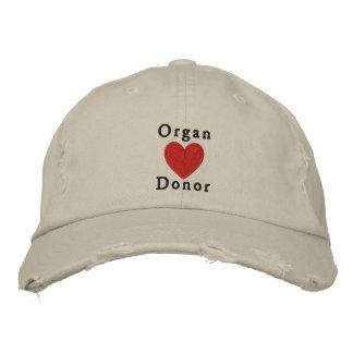 Donante de órganos gorras bordadas