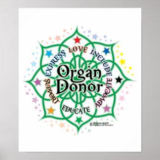 Donante de órganos Lotus Posters