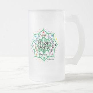 Donante de órganos Lotus Taza De Cristal