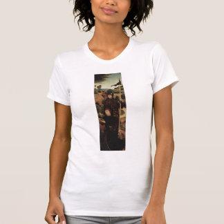 Donante de rogación de Hans Memling- con St. Guill Camiseta