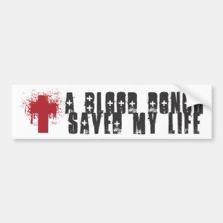 Donante de sangre pegatina para auto