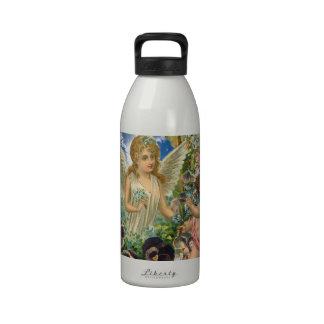 Donante - el Cupid trae las flores de un ángel Botellas De Beber
