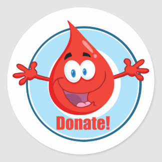 Donate Blood Classic Round Sticker