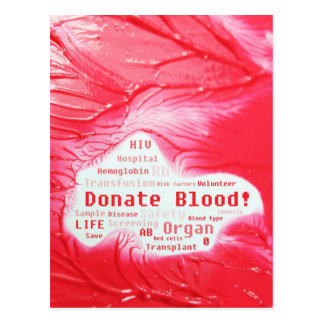 Donate blood concept design postcard