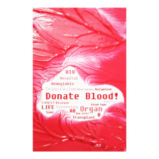 Donate blood concept design stationery