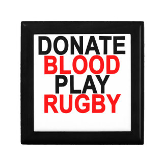 Donate Blood Play Rugby T-Shirts.png Jewelry Box