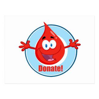 Donate Blood Postcard
