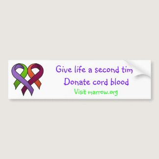 Donate Cord Blood Bumper Sticker