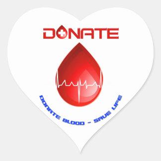 Donate Heart Sticker