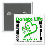 Donate Life Butterfly - Bone Marrow and Stem Cell Pinback Button