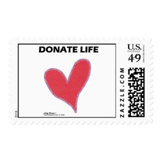 Donate Life Postage
