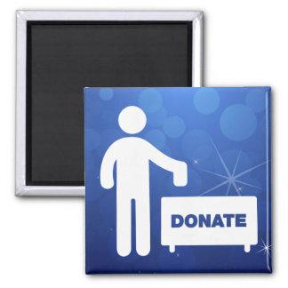 Donate Monies Symbol 2 Inch Square Magnet