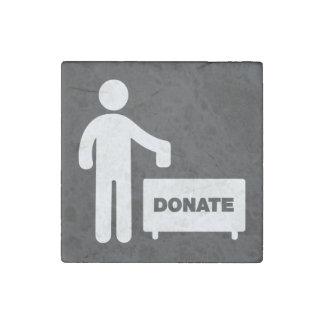 Donate Monies Symbol Stone Magnet