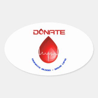 Donate Oval Sticker