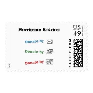 Donate to help Katrina relief Postage