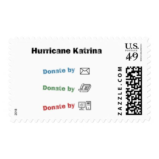 Donate to help Katrina relief Stamp