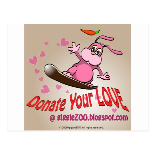 Donate Your Love with Valentine Bunnie Post Cards