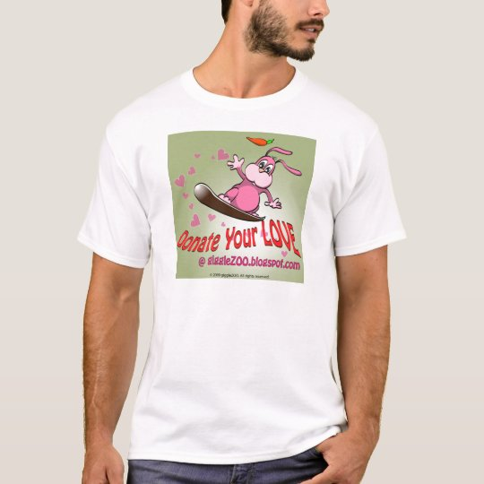 Donate Your Love with Valentine Bunnie T-Shirt