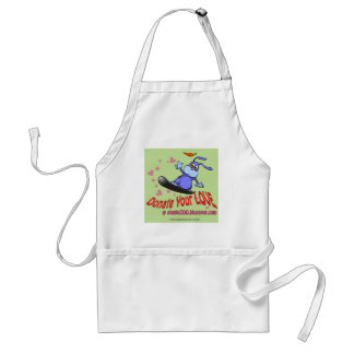 Donate Your Love with Valentine Bunny Adult Apron