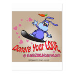 Donate Your Love with Valentine Bunny Post Cards