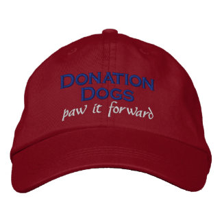 Donation Dogs (paw it forward) Hat Red Embroidered Baseball Caps