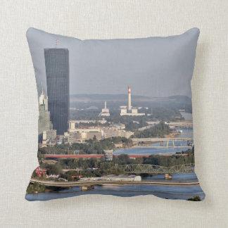 Donaucity, Vienna Austria Throw Pillow
