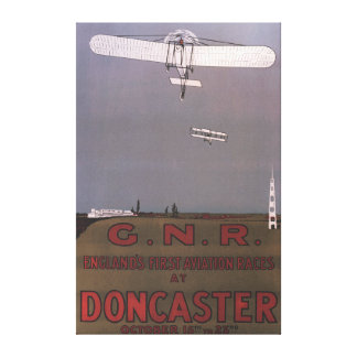Doncaster, England - First Aviation Races Gallery Wrap Canvas
