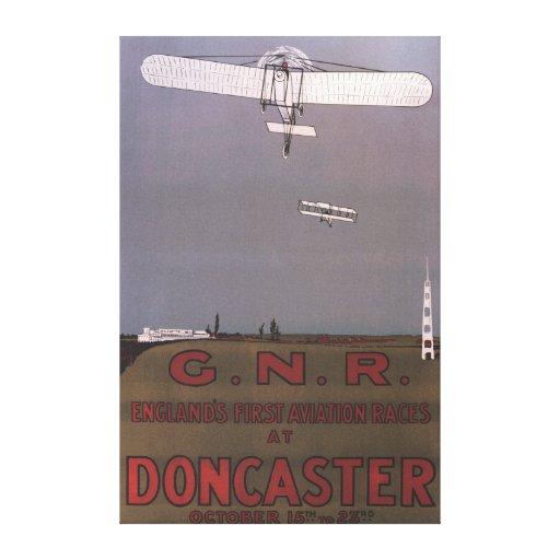 Doncaster, Inglaterra - primeras razas de la aviac Impresiones De Lienzo