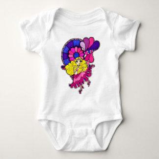 Doncella de la flor del bebé del amor body para bebé