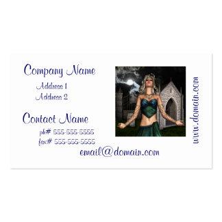 Doncella de la medusa plantillas de tarjeta de negocio