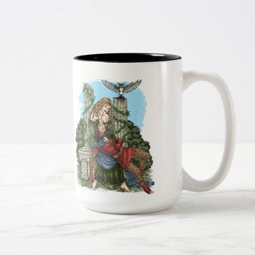 Doncella del duende y taza del caballero