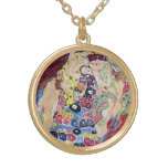 Doncella (Virgen), Gustavo Klimt, arte Nouveau del Colgante