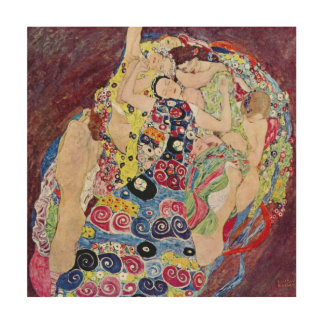 Doncella (Virgen), Gustavo Klimt, arte Nouveau del Cuadros De Madera