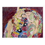 Doncella (Virgen), Gustavo Klimt, arte Nouveau del Postal