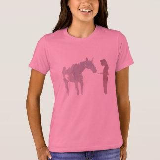 Doncella y un caballo (chica) playera