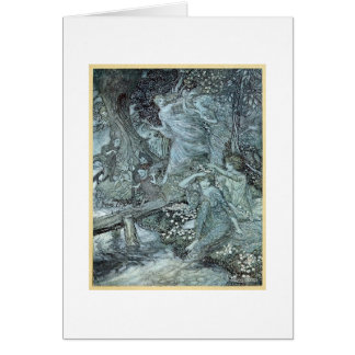 Doncellas en un bosque tarjeta de felicitación