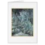 Doncellas en un bosque tarjetas