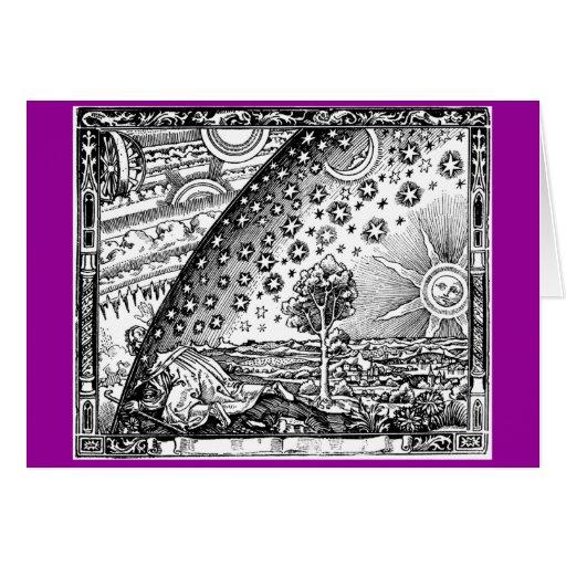 Donde el cielo y la tierra se encuentran tarjeta