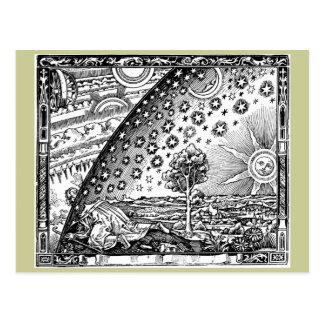 Donde el cielo y la tierra se encuentran postal