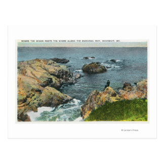 Donde el océano resuelve la orilla postal