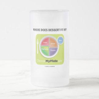 ¿Dónde el postre cabe adentro? (Humor de MyPlate) Taza De Cristal