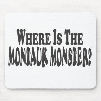 ¿Dónde es el Montauk monstruo - Dos líneas Alfombrilla De Raton